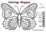 Coloriage Magique : un joli papillon