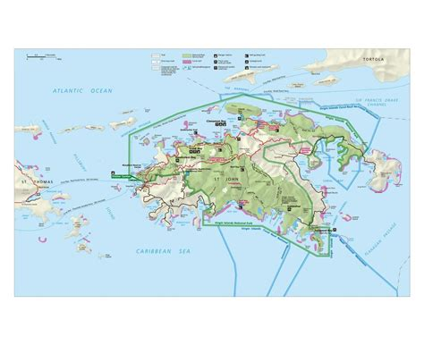 map usvi maps of us islands detailed map of united states