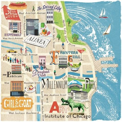 chicago map illustration 30 best images about a week in chicago on