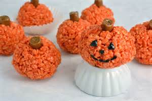 peanut butter rice krispie treat pumpkins savory experiments