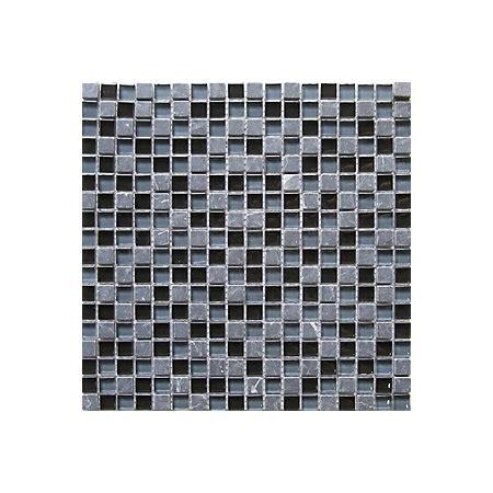 Glass Mosaic L by Barya Black Blue Glass Marble Mosaic Tile L 300mm W