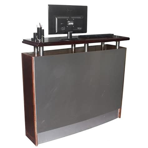 stainless steel reception desk secondhand chairs and tables bar units modern