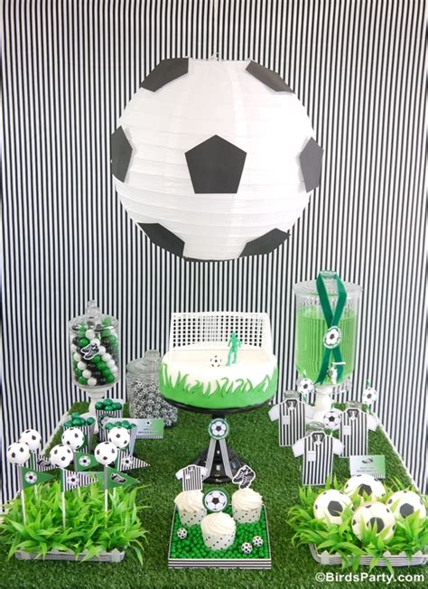 soccer theme decorations soccer football birthday desserts table printables