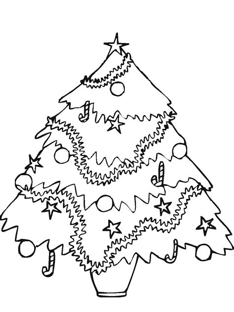 christmas tree clipart coloring page free coloring pages of empty tree image