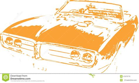 eps format graphics muscle car design vector clipart stock vector image
