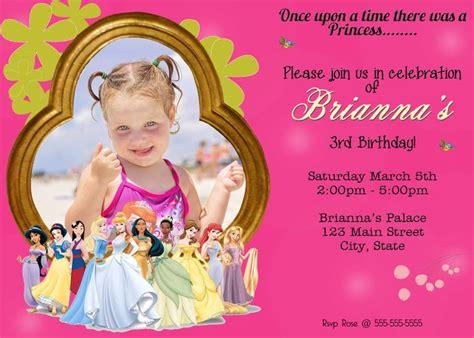 Setelan Motif Princess 8 disney princess theme birthday invitation invitations on ebay princess