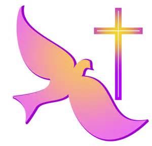 Christian art classic dove and cross symbols of christian faith gold