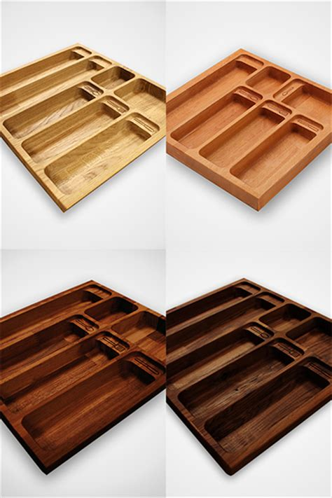 Silverware Drawer Inserts by Solid Wood Cutlery Drawer Inserts