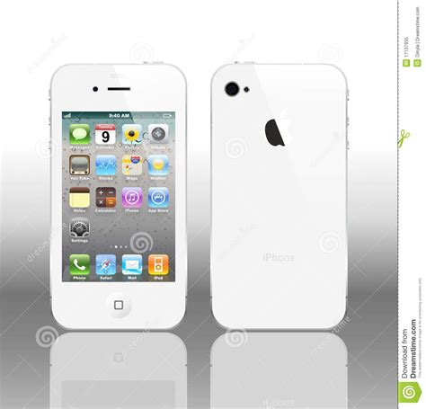 a iphone 4 vector iphone 4 white editorial image image 17137935