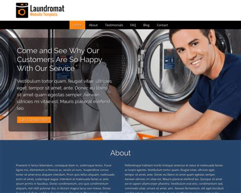 website templates for laundry websites designs for laundry