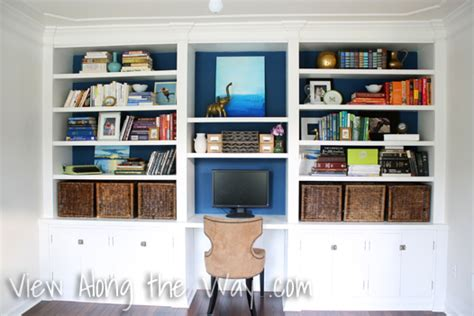 decorate office shelves decorated bookshelves diy built in bookshelf