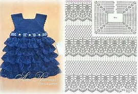 Vestido Para Nina De Tejido Crochet