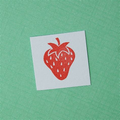 strawberry rubber st strawberry carved rubber st by skull and