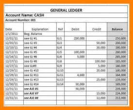 4  example of general ledger   emt resume