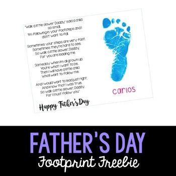 fathers day poems kindergarten s day footprint poem by adventures in kindergarten
