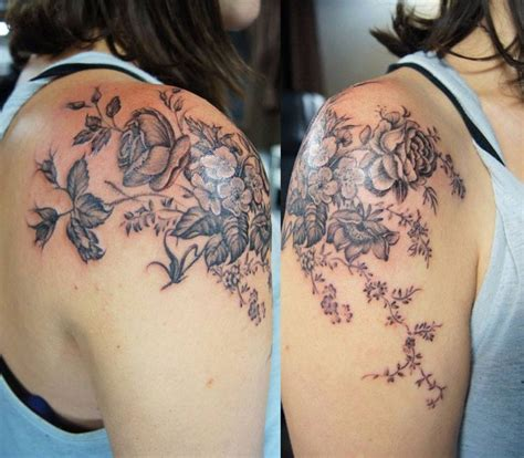 flower shoulder cap tattoo 25 best ideas about vintage flower on
