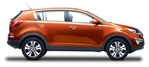 orange cars kia sportage orange car png image pngpix