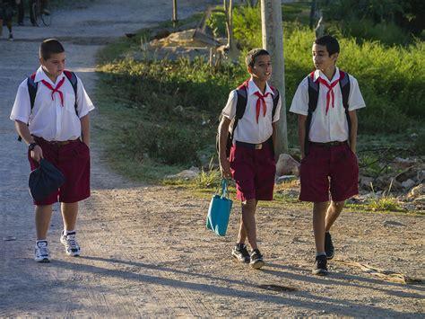 Walk Home by Cuban School Boys Walking Home Photograph By David Litschel