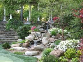 impressive garden waterfalls ideas with decor