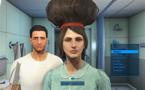 haircut games real life unlock all hairstyles at game start fallout 4 fo4 mods