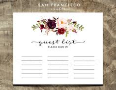 printable bridal shower sign in sheet rustic floral guest list printable bohemian floral sign in
