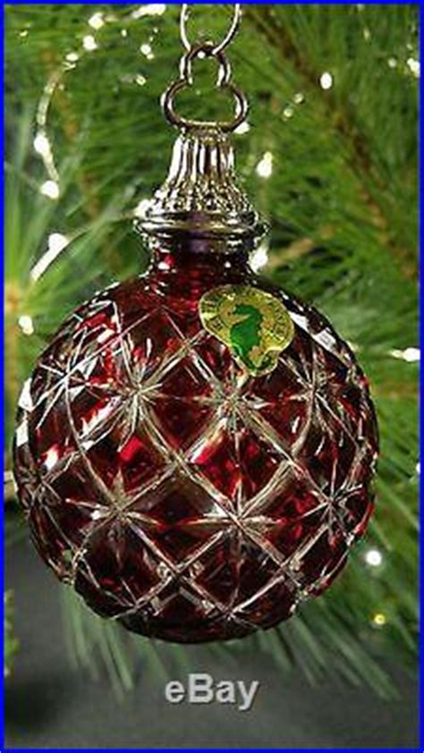 us mint christmas ornaments waterford 2013 ruby ornament 161066 mib mint read decor world
