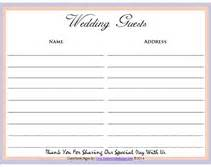 free printable guest book template free printable wedding guest sign in pages