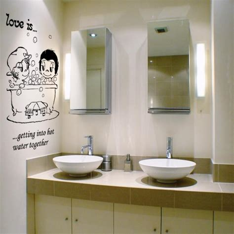 wall sticker for bathroom 15 decorative and interesting bathroom wall stickers rilane