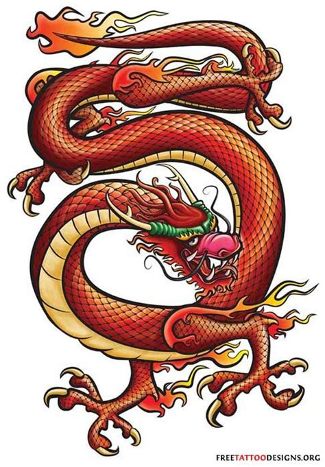 red chinese dragon tattoo inspiring ideas pinterest