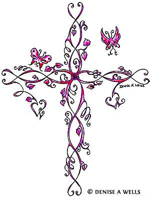 pink cross tattoo 50 cross tattoos designs of holy christian