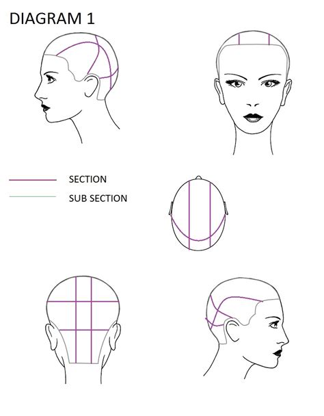9 Section Perm by 9 Section Perm Wrap Diagram 9 Section Parting Perm Mifinder Co