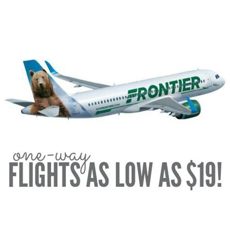one way flights on frontier airlines as low as 19 today only