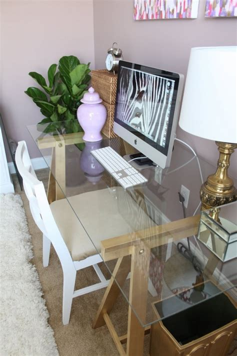 Chic Diy Computer Desk Ideas Diy Glass Top Desk