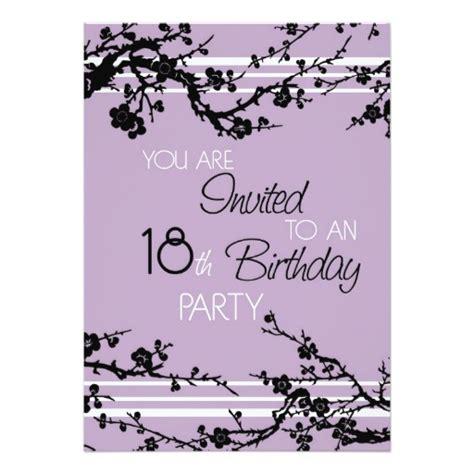 18th Birthday Card Invitation Templates by Purple 18th Birthday Invitation Card Zazzle