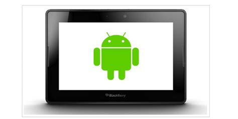 blackberry playbook android blackberry playbook to run android 2 3 apps sign of things to come tablet news