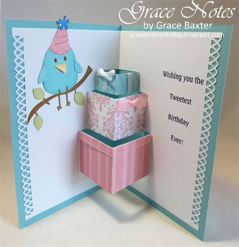 Happy B Day Pop Up Card Template by Grace Notes For Today Pop Up Gifts Birthday Card
