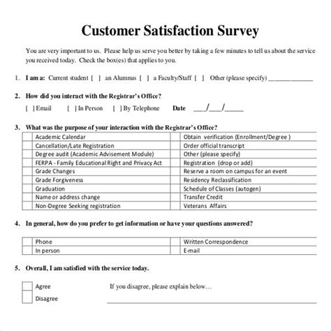 Survey For Detox by Sle Customer Service Survey Template Free