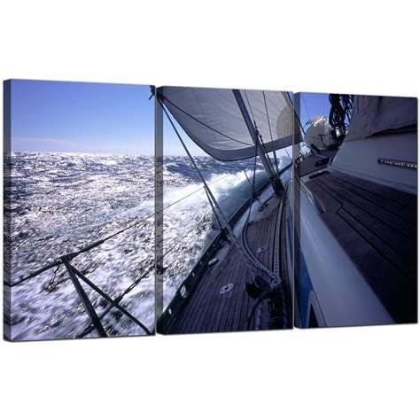 boat canvas art sailing boat canvas art set of 3 for your bathroom