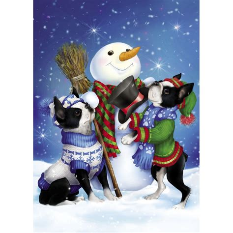 Boston Gift Card - boston terrier christmas cards the danbury mint
