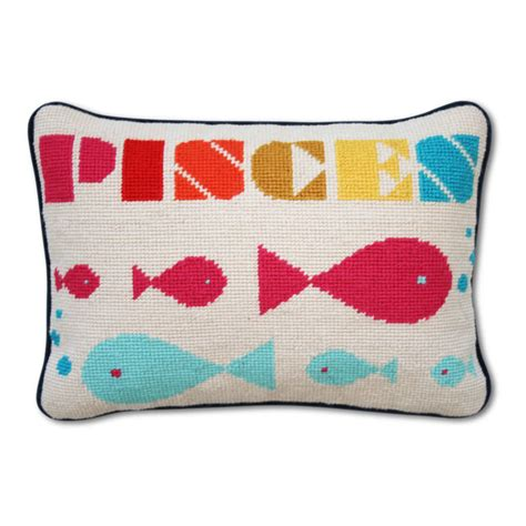 pisces zodiac needlepoint throw pillow modern d 233 cor