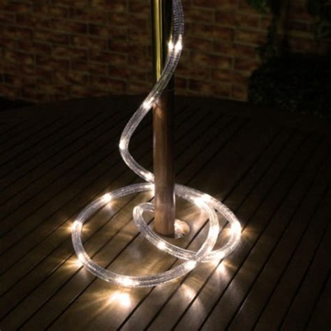 solar powered warm white led rope light