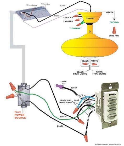 wiring diagrams ceiling fan  remote ceiling fan ceiling fan wiring