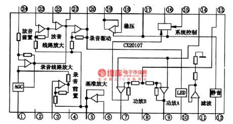 the world s integrated circuit was developed at instruments cx20107 the single chip record playback integrated circuit circuit diagram world
