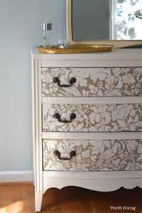 Furniture Stencils by Furniture No Sanding And Damask Stencil On