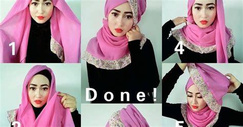 tutorial gambar hijab pesta tutorial hijab segi empat untuk pesta jilbab tutorial hijab
