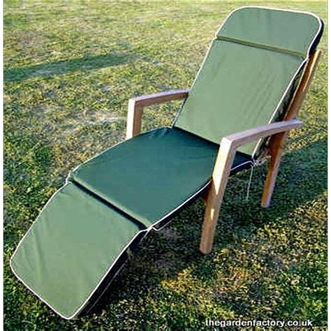 cushions for garden recliner chairs steamer chair recliner cushion the garden factory
