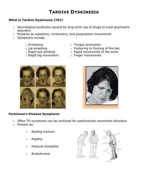 tardive dyskinesia pictures posters news and on