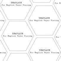 3 Inch Hexagon Template by Mini Hexagons 1 1 4 Inch Templates
