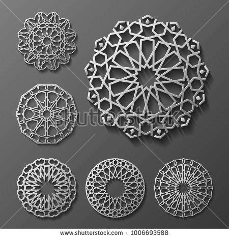 Hasna Set 3 islamic ornament vector motiff 3d ramadan