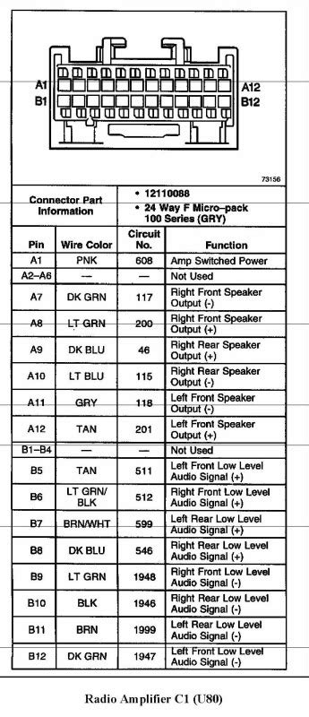 2000 ssei bose amp wiring diagram - GM Forum - Buick